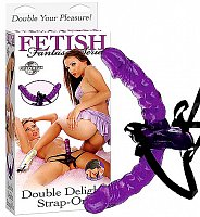 Připínací penis Fetish Fantasy Double Delight Strap On